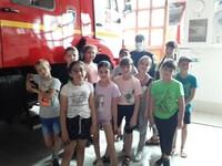Дети посетили пожарно-спасательную часть № 28